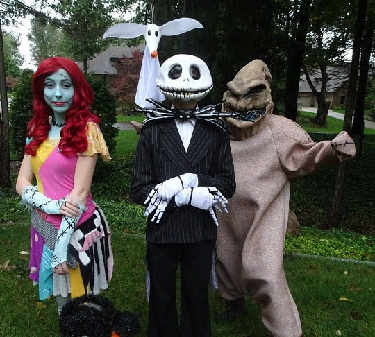 Nightmare Before Christmas - Jack Skellington, Sally, Oogie Boogie and Zero