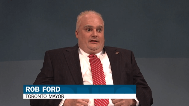 Rob Ford SNL Voice Over Accents