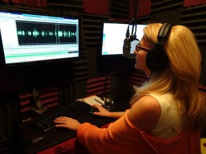 Debbie Grattan Voiceovers recording booth